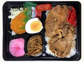 生姜焼き&コロッケ弁当